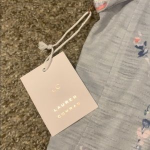 LC Lauren Conrad Tops - NWT! Periwinkle shirt with floral and lace details